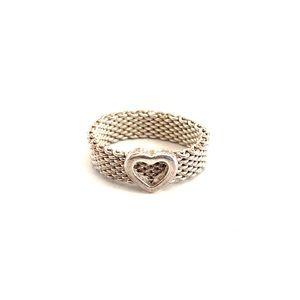Mesh Heart Ring - Tiffany Style